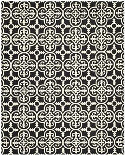 Safavieh Cambridge Collection CAM133E Handmade Moroccan Premium Wool Area Rug, 9' x 12', Black / Ivory (B00CMA5AEW) | Amazon price tracker / tracking, Amazon price history charts, Amazon price watches, Amazon price drop alerts