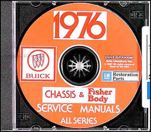 1976 Buick Chassis Shop Repair Service Manual - All Models on CD (Includes Key Chain)