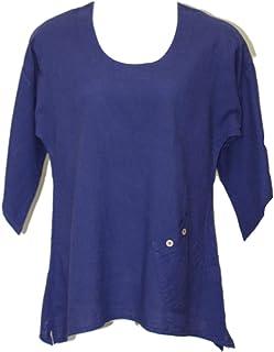 Ezze Wear Women`s Blue California Cotton Eve Tunic Top