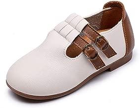 Fancyww Girl Kids Dress Ballet Flat Strap Leather Shoes