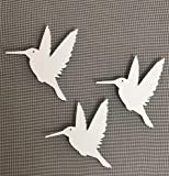DCentral Three Hummingbirds Flexible Screen Magnet: Multipurpose, Double-Sided, for Non-Retractable Screens, Helps to Stop Walking into Screens, Size W 4.4' x L 4.5' ea