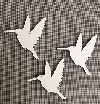 DCentral Three Hummingbirds Flexible Screen Magnet  Multipurpose Double-Sided for Non-Retractable Screens Helps to Stop Walking into Screens Size W 4.4  x L 4.5  ea