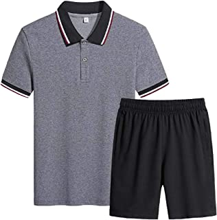 Men's Outfit Sets Summer Short Sleeve T Shirts Shorts Sports 2 Pieces Sets