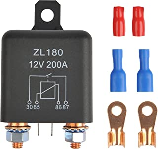 OFNMY 12V 200A Relay ZL180 Car Starter Heavy Duty Split Charge with 2 Pin Footprint + 4 Terminal for Car Truck Motor Automotive Boat