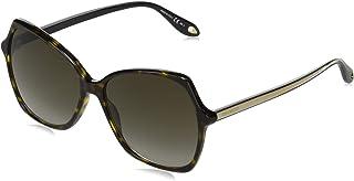 جيفينشي نظارات شمسية نمط مستطيل للنساء - رمادي