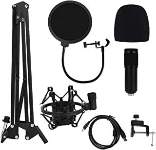 Condenser Microphone Kits, Audio Technica Microphone Set, Professional Sound Recording USB Microphone Kit with Metal Adjus...