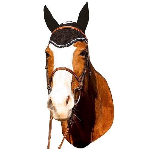 HORSE FLY VEIL EAR BONNET// HOOD BREATHABLE TACK NET MASK