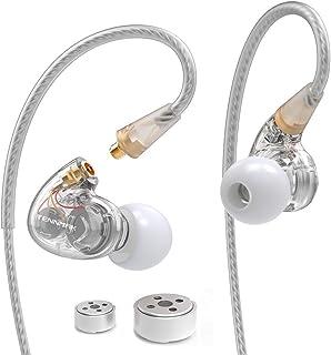Tennmak Pro Dual Dynamic Driver Professional Sport In Ear Detachable Earphone , MMCX Earphone with 4 driver inside - - Silver