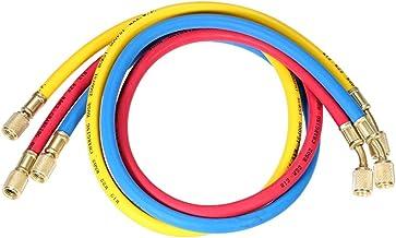 3 stuks 1/4 inch SAE Universal R12 R22 R502 Manifold manometer sets driekleurig opladen slangen voor HVAC airconditioning ...