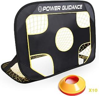 POWER GUIDANCE Portable Soccer Goal Net Set - 2 in 1,...