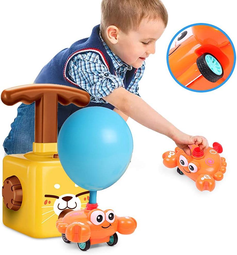 con bomba de globo con 12 globos para ni/ños juego de veh/ículo alimentado por aire para ni/ños juguetes educativos inerciales Bcamelys Juego de lanzador de coche con globo inflable