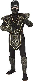 Child's Gold Dragon Warrior Ninja Costume, Large