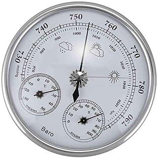 WBMKH Termómetro doméstico montado en la Pared Higrómetro Precisión Manómetro Indicador de Tiempo atmosférico Barómetro
