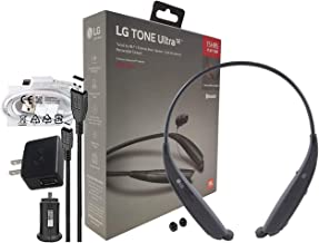 LG Tone Ultra SE HBS-835 Bluetooth Wireless Stereo Headset - with Wall/Car Charger (Retail Packing Kit) Black HBS835s Kit