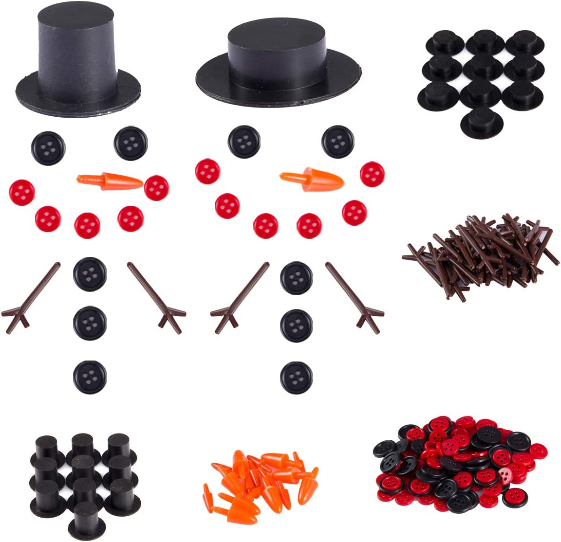 20 Sets Buttons for Snowman Crafts Opening Long Beach Mall large release sale DIY- Noses Butto 20pcs Carrot