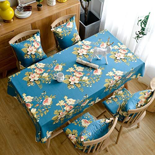 Pahajim Elegante Diseño Estampado Floral Mantel Antimanchas