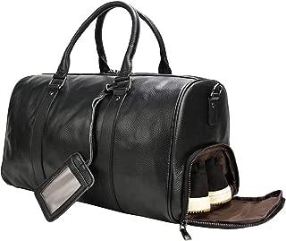 ボストンバッグ 本革 メンズ 大容量 靴入れ付き トラベルバッグ 底鋲付き レザー 機内持ち込み 旅行バッグ 自立 牛革 旅行鞄 ゴルフバッグ 出張、帰省