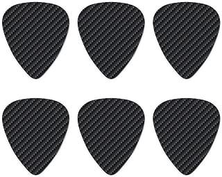 Carbon Fiber Pattern Novelty Guitar Picks Medium Gauge - Set of 6