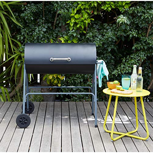 Texas Flame master Oil Drum Charcoal BBQ Charcoal Barbecue ideal for Home Garden Party BBQ