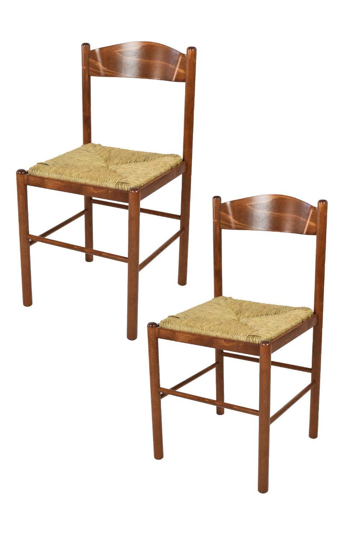 Tommychairs Set 2 sedie Pisa 50 per Cucina, Bar e Sala da