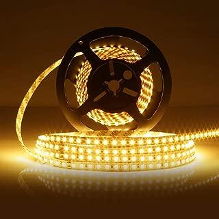 LEDMO LED Strip Light Non-waterproof SMD2835 600LEDs 3000K 16.4Ft DC12V 15LM/LED 3 times brightness than SMD 3528 LED Light Strip LED Ribbon for Kicthen Bedroom and Sitting Room Warm White