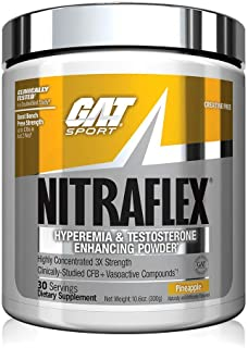 GAT Sport NITRAFLEX ,Testosterone Boosting Powder, Increases Blood Flow, Boosts Strength and Energy, Improves Exercise Per...