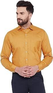 D Kumar Men's Cotton Regular Fit Golden Full Sleeve Plain/Solid Formal/Casual Shirt