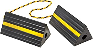 BUNKERWALL Industrial Rubber Wheel Chock Blocks with Rope 9.6