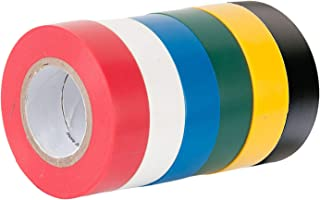 6 Pack Electrical Insulation Tape Wire Adhesive Gaffer Tape, 16mm ×15m, 90 Meters in Total, 6 Colour