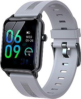 1,4 Inch Touchscreen Smart Watch Fitness Tracker Hartslagmeting IP68 Waterdicht Geschikt Voor Android IOS Smartwatches,Gray