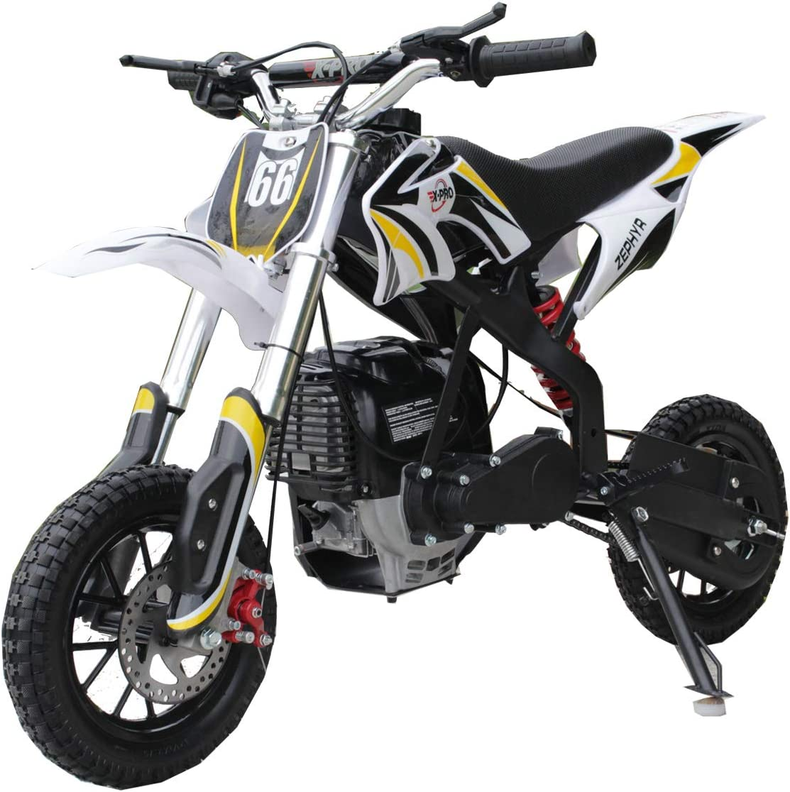 X-PRO Zephyr 40cc Kids Mini Dirt Bike Pit Bike Dirt Bikes Gas Power Bike Off Road Motorcycle with Gloves Googles and Face Mask