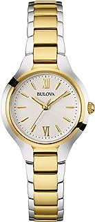 Bulova - Reloj Analógico para Mujer de Cuarzo con Correa en Acero Inoxidable 98L217