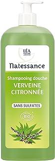 Natessance Organic Cosmetic Bio Sulphate-Free Lemon Verbena Shower Gel, 1 Litre