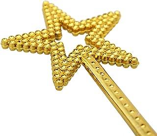 AKOAK Star Wand,13 Inches Gold Fairy Princess Angel Wand