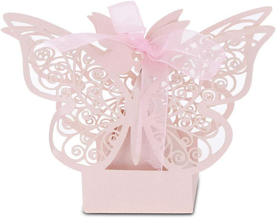 SunshineFace 100PCS Wedding Ranking TOP7 Max 87% OFF Favor Sugar Boxes Chocolate