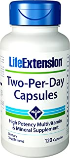 Life Extension Two Per Day High Potency Multivitamin & Mineral Supplement Capsules