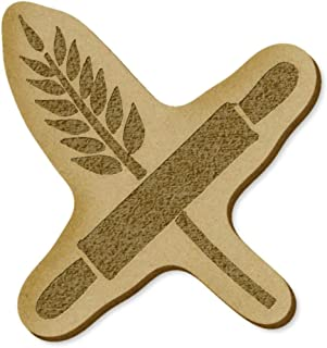 6 x 'Rolling Pin & Wheat' MDF Craft Embellishments (EB00021889)