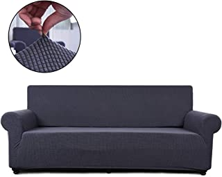 FAIRYLAND Sofa Cover loveseat Chair Slipcover,1 Piece Couch Shield Furniture Protector with Elastic Bottom (Sofa, Gray)