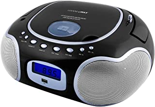 Hannlomax HX-309CD Portable CD/MP3 Boombox, AM/FM Radio, Bluetooth, USB Port for MP3 Playback, Aux-in, LCD Display