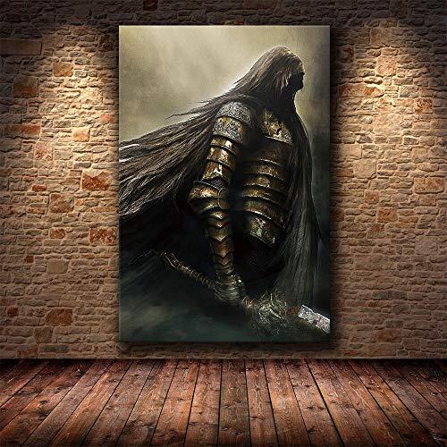 wZUN Cartel del Juego Pintura Decorativa Dark Souls HD Lienzo Pintura sobre Lienzo Carteles e Impresiones artísticas 60x90 Sin Marco