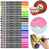 Pintura para Porcelana y Cerámica, RATEL 20 colores Pintura de porcelana Rotuladores de pintura acrílica, Permanente...