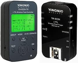 YONGNUO YN622N-KIT Wireless i-TTL Flash Trigger Kit with LED Screen for Nikon including 1X YN622N-TX Controller and 1X YN622 N Transceiver