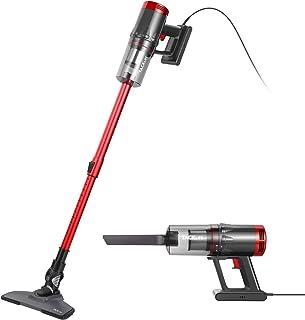 TACKLIFE 掃除機 17000Pa 600W 強力吸引 軽量 サイクロン ハンディ スティッククリーナー 2Way コード式 2個HEPAフィルター 大掃除用品 T18