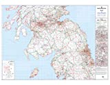 Mapa del distrito 5 Sur y centro de Escocia (Glasgow, Edimburgo y Newcastle Upon Tyne) - Laminated Wall Map