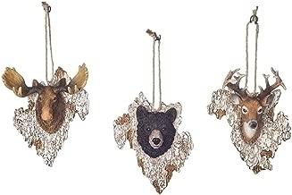 Deer Moose and Black Bear 4.5 Inch Resin Christmas Ornament Set of 3