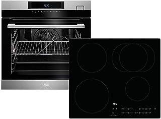 AEG BSK784i-1 - Horno de cocina al vapor BSK782220M + placa de inducción IKB64411IB con extensión telescópica TR1LFSTV Hob2Hood-Funktion