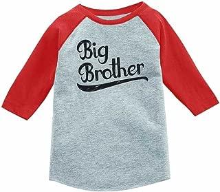 Gift for Big Brother Siblings Boys 3/4 Sleeve Baseball Jersey Toddler Shirt