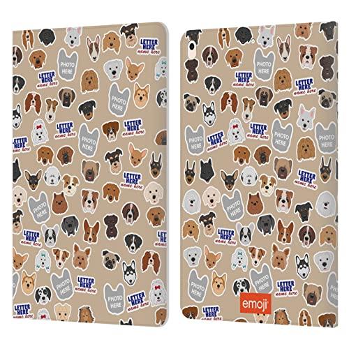 Head Case Designs Officially Licensed Custom Customised Personalised Emoji Nombre de Perros y Estampado Patrones Carcasa de Cuero Tipo Libro Compatible con Apple iPad Air (2019)