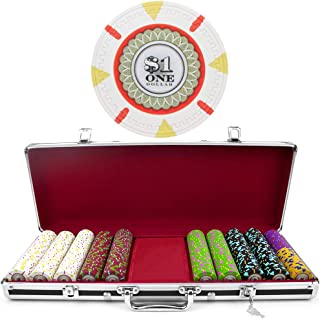 500 Ct Milano Poker Chip Set by Claysmith Gaming in Black Aluminum Case