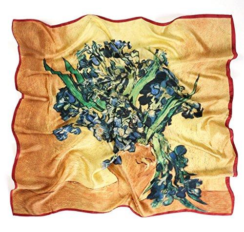 Prettystern prettystern P698-90cm Kunst Malerei Seidentuch - Vincent Van Gogh - Iris